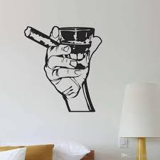 Classic Wall Decal Drink Alcohol Men Bar Whiskey Rum Cigar Relaxation Vinyl Wall Stickers For Kitchen Living Room Decor Wall Stickers Art Wall Stickers Baby From Joystickers 12 48 Dhgate Com