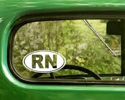 Rn Or Registered Nurse Sticker Decal The Sticker And Decal Mafia
