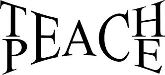 Teach Peace Decal Sticker 01