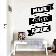 Wall Decal Of Office Motivation Make Today Amazing Quote Business Vinyl Wall Sticker Poster Decor Home Decoration Wall Stickers Aliexpress