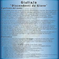 Giulia e Giulio: significato, origini e onomastico del nome • UmbyWeb