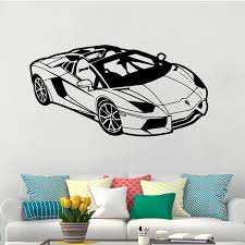 4 Lamborghini Car Vinyl Wall Sticker For Kids Room Sports Racing Automobile Art Decals Bedroom Livingroom Home Decoration W010 In Wall Stickers From Home Garden Peony Bridal Bouquet