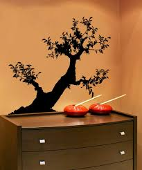 Vinyl Wall Decal Sticker Leaning Bonsai Ac212 Stickerbrand
