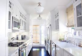 galley kitchen lighting looks