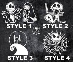 Nightmare Before Shock Vinyl Decal Car Truck Wall Laptop Sticker Decals White