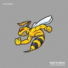 Decal Sticker Bee Hornet Fighter Attack Aggression Helmet Etsy