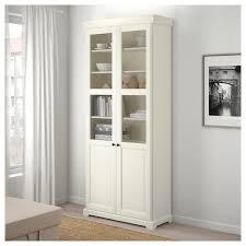 ikea liatorp white bookcase with glass