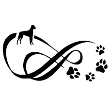 Hot Sale Laptops Luggage Stickers 15 8cm Great Dane Dog Paw Print Car Stickers Reflective Vinyl Decal Car Styling Truck Decoration Black Silver Red White Wish