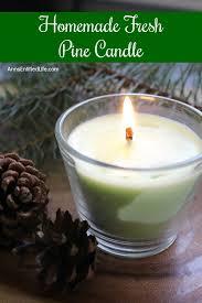 fresh pine diy candle