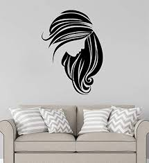 Amazon Com Advanced Store Wall Vinyl Decal Beautiful Silhouette Woman Hair Girl Salon Wall Sticker Home Removable Interior Room Wall Stickers Murals Mk8163 Home Kitchen
