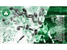 2019 boston celtics poster wallpaper