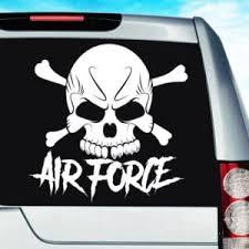 Air Force Skull Vinyl Car Window Decal Sticker