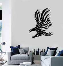 Vinyl Wall Decal American Bald Eagle Flag Patriotic Decoration Room Ar Wallstickers4you