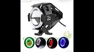Đèn LED trợ sáng U7 cho xe máy - Đèn LED trợ sáng U7 xanh