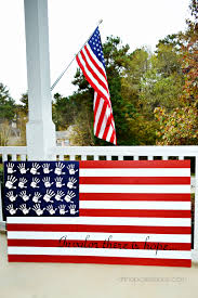 Diy Wooden Handprint American Flag
