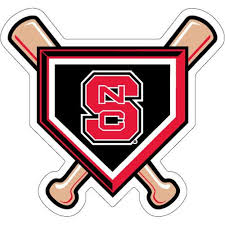 Nc State Wolfpack Baseball Bats Homeplate Vinyl Decal Red And White Shop