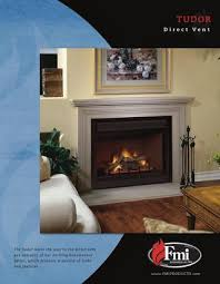 tudor direct vent gas fireplace by