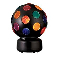 Style Selections 10 6 In Multicolor Disco Ball Party Light Disco Ball Lamp Light In The Table Lamps Department At Lowes Com