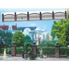Ornamental Fence With Brick Pillars Oo Ho Scale