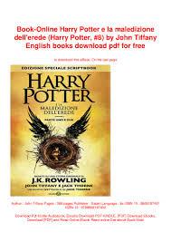 Book-Online Harry Potter e la maledizione dell'erede (Harry Potter, #…