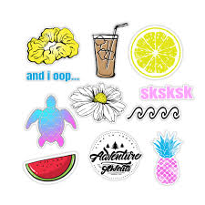 11 Pack Cute Vsco Stickers Pack Aesthetic Stickers For Hydro Water Bottle Stickers Laptop Computers Notebook Planner Trendy Scrapbooking Walmart Com Walmart Com