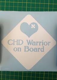 Vinyl Chd Warrior Car Window Decal By Themendedheart On Etsy 9 50 Chd Chd Awareness Cute Stickers