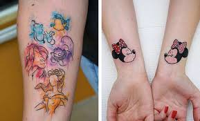 cute disney tattoos that are beyond perfect stayglam