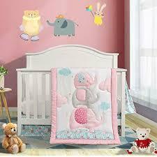 baby girls purple owl 6pcs crib bedding
