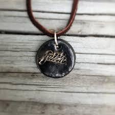 faith word necklace handmade pendant