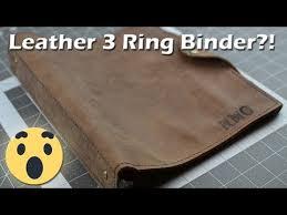 diy leather 3 ring binder trapper