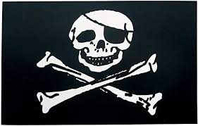 Amazon Com Online Stores Inc Pirate Flag Sticker Jolly Roger Decal 3 Pack Automotive