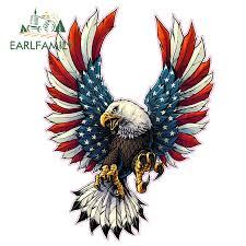 Automotive American Flag Bald Eagle Murica Merica 4 Custom Vinyl Decal Sticker Jdm Graphics Decals Interoot Co Ls