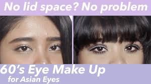 60s eye make up tutorial for asian eyes