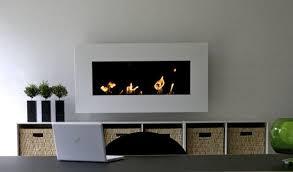 frame bioethanol fireplace wall