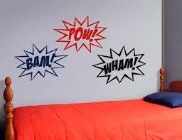 Superhero Wall Decal Superhero Sounds Comic Book Vinyl Etsy