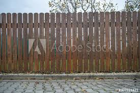 Wooden Fence In Front Of Green Garden Of Family House Buy This Stock Photo And Explore Similar Images At Adobe Stock Adobe Stock