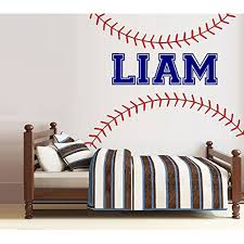 Decal Baseball Laces Custom Name Wall Decal Home Decor 30 X 40 Walmart Com Walmart Com