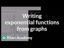 writing exponential functions from