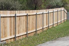 Wood Privacy Fence With 2 3 8 Round Posts Wood Fence Wood Privacy Fence Fence