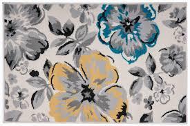 Blooming Flower House Home Area Rugs Kids Room Carpet Modern Floor Decor Mat