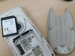 Nokia 3650 and found a 16MB SD card ...