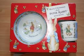 new peter rabbit xmas wedgewood 3 piece