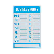 Sandleford 300 X 200mm Plastic Business Hours Sign Bunnings Warehouse