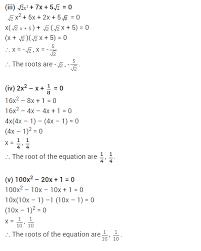 maths chapter 4 quadratic equations