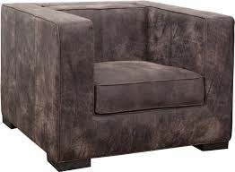 distressed brown leather shelter style
