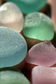 captioned lake erie sea glass rocks