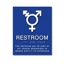 all gender neutral bathroom sign with
