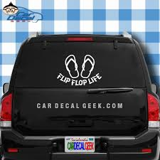 Flip Flop Life Vinyl Car Window Decal Sticker Cling