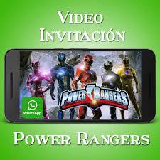 Videozas Video Invitacion Power Rangers Crea La Tuya Facebook