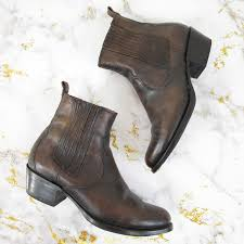 dark brown leather ankle boots booties